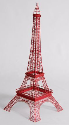 Laser-cut papercraft Eiffel Tower model