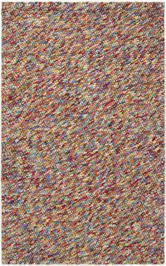 Surya Confetti CONFETT1 Red/Purple Plush Area Rug