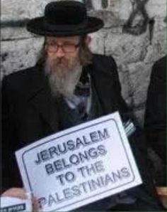 That's an orthodox JEW. Stop the Zionist lies. Jerusalem belongs to Palestine..Jew, Christian, Muslim. NOT to occupying Zionists.