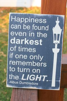 Harry Potter Dumbledore quote hand painted wood sign by caitcreate