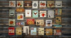 Vintage, distressed styled tin signs from barnyarddesigns.com. Affordable & perfect for any kitchen / home. Free shipping over $40!