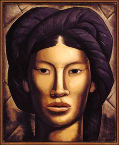 La Malinche ( Young Girl of Jalala, Oaxaca) 1940 by Alfredo Ramos Martinez at Phoenix Art Museum