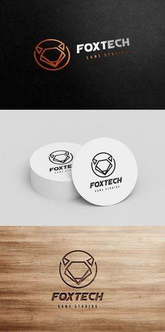 Fox Logo. Technology icons. $25.00