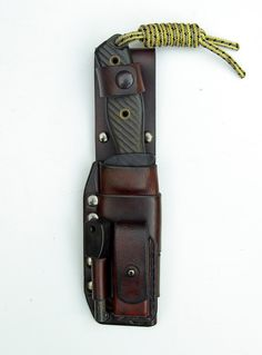 Sheaths for Knives - Technical Sheath in Leather and Kydex