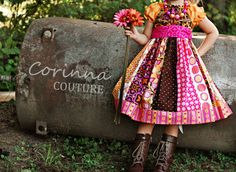 The Autumn Rose dress by Corinna Couture Fall by CorinnaCouture, $52.00