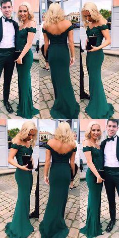38ad745e9468f 2019 Long Emerald Green Evening Dress