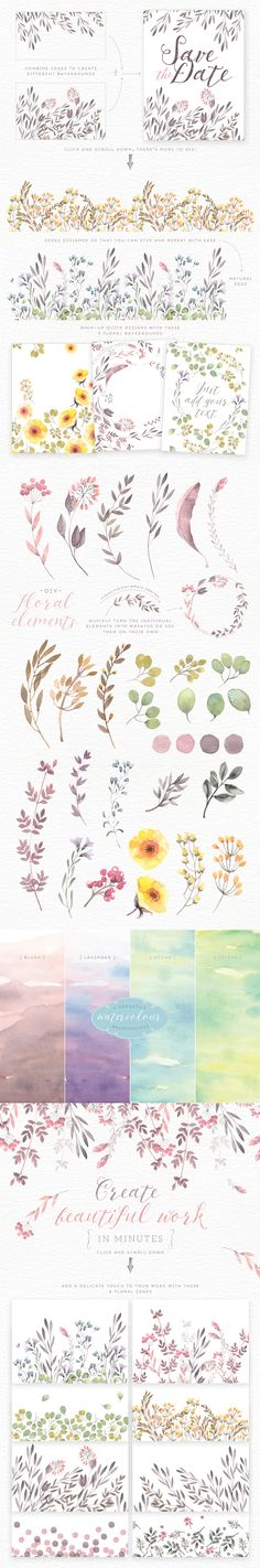 Watercolor Floral Edges Backgrounds  -  https://www.designcuts.com/product/watercolor-floral-edges-backgrounds/