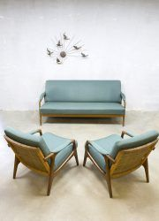 Deens Design Vintage Bank.Vintage Danish Design Lounge Set Sofa Armchairs Bank Fauteuils