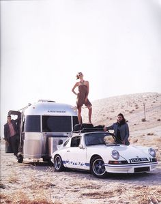 /// 1973 Porsche 911 RS, towing an Airstream