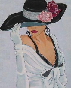 незнакомка в шляпе - Схемы вышивки - ирина1337 - Авторы - Портал «Вышивка крестом»