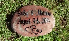 personalized garden stoneEngraved gifts for by MileStoneArtworks