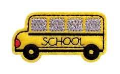School Bus  - make this on yellow felt on the hat, and skip the satin stitch.