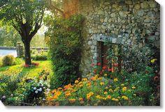 Cobblestone Garden Weatherprint Art