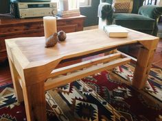 Live Edge Cedar Coffee Table by ThreeArrowDesign on Etsy, $275.00