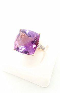 9.64 ctw Fancy Cut Large 14 mm Purple by KatyDesmondJewelry, $429.00