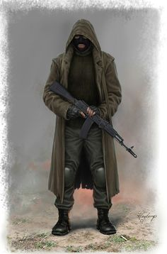 Tim and the ski mask. It may or may not be fuzed to his face Character Concept, Character Art, Concept Art, Character Design, Cthulhu, Apocalypse Survivor, Apocalypse Art, Apocalypse Fashion, Mad Max