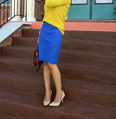 Double The Glam: J.Crew, Pencil skirt, fall sweater