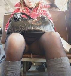 Sleeping up skirt pantyhose