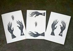 DIN A5 - A5 Skizzenheft, handgedruckt und gebunden - ein Designerstück von IrinaMmur bei DaWanda