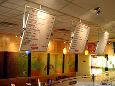 How about menu boards for hungry customers?