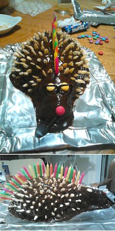 How about a mohican wise hedgehog for a birthday cake?