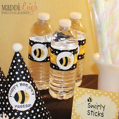 Little Bumble Bee Printable Water Bottle Wraps