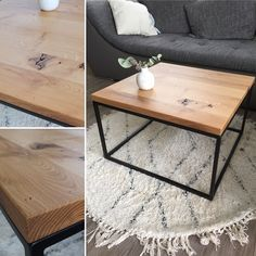 Solid Oak Coffee Table, Table Frame, Handmade Table, Wooden Tops, Find Furniture, Wooden Furniture, Wooden Tables, Wood Paneling, Room Decor