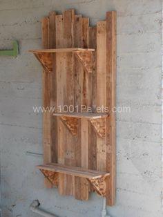 Flowerpot vertical base with pallets | 1001 Pallets shelves
