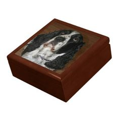 English Springer Spaniel Photo Jewelry Box - photography gifts diy custom unique special