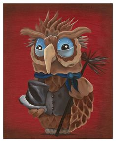 The Chimney Sweep Owl Limited Edition Art by piratesalleystudio, $10.00