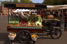 Original Farmers Market at The Grove New Market, Farmers Market, Bike Cart, Vegetable Stand, Mobile Business, Sr1, Healthy Shopping, Cargo Bike, Market Stalls