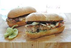 Loaded Italian Chicken Sub Sandwiches - Bev Cooks Chicken Subs, Chicken Sandwich Recipes, Sandwiches For Lunch, Wrap Sandwiches, Turkey Sandwiches, Paninis, I Love Food, Good Food, Yummy Food