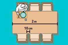 Mesa retangular para 6 lugares