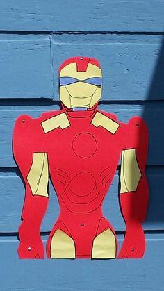 Pin the arc reactor on Iron Man, birthday party game.