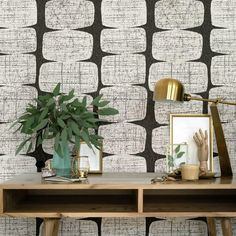 Bathroom Wallpaper Modern, Mid Century Modern Wallpaper, Bold Wallpaper, Wallpaper Roll, Peel And Stick Wallpaper, Midcentury Wallpaper, Modern Kitchen Wallpaper Ideas, Wallpaper Accent Walls, Modern Wallpaper Designs