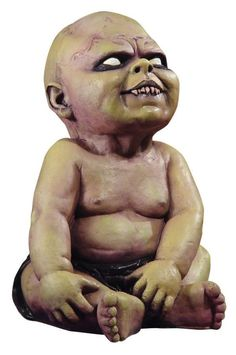 Zombie Baby Halloween Prop OK seriously this is just creepy. Just like the baby from the Dawn of the Dead remake I'd just not be cool with this one. tall latex prop of a sitting baby … Haunted House Decorations, Scary Halloween Decorations, Theme Halloween, Creepy Halloween, Baby Halloween, Halloween Ideas, Halloween Stuff, Halloween 2020, Halloween City