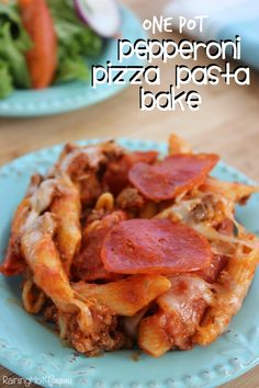 One Pot Pepperoni Pizza Pasta Bake