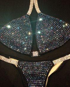 Black Amethyst Purple Custom Bikini Competition Suit