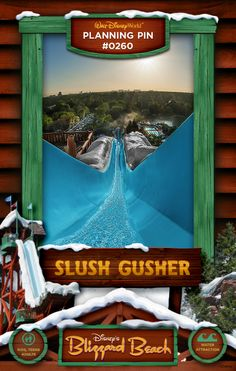 Walt Disney World Planning Pins: Slush Gusher