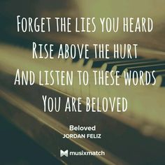 Image result for lyrics to song you are beloved by feliz