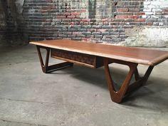 Lane Coffee Table Modern Tables Mcm Furniture Vintage Bench Legs Mid Century Danish Midcentury
