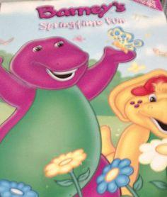 Vintage Barney The Dinosaur Springtime Fun Coloring Book
