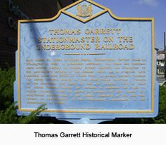 October 29, 1856 Underground Railroad conductor Harriet Tubman brought four men and one woman to Thomas Garrett's house in Wilmington, Delaware on their way to Canada.  For more Marker and 'This Day in DE History' facts check out www.archives.delaware.gov