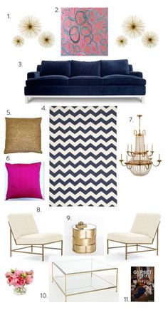 Great Room: 1.Jayson Home & Garden 2. Amanda Talley 3.Jonathan Adler 4.Calypso Home 5.ABC Home 6.Etsy 7.Circa Lighting 8.MGBW 9.Shop Candelabra 10.Shop Candelabra 11. Furbish