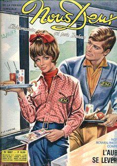"""Le magazine """" Nous Deux"""" était girly, il faisait rêver toutes les jeunes filles et les jeunes femmes en mal d'amour romantique..."""