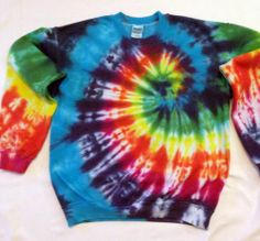 Tie Dyed Crew Neck Sweat Shirt