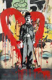 Mr. Brainwash, 'Charlie Chaplin (Red),' 2011, Julien's Auctions: Street Art Now June 2016