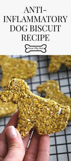 Anti-Inflammatory Dog Biscuit Recipe Homemade Dog Treats DIY Dog Treats Gluten-Free Dog Treat Recipe via Healthy Dog Biscuit Recipe, Dog Biscuit Recipes, Dog Treat Recipes, Dog Food Recipes, Recipe Treats, Recipe For Dog Biscuits, Homemade Dog Biscuits, Dinner Recipes, Puppy Treats