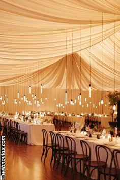 Decoración de techos para tu boda www.webnovias.com/blog