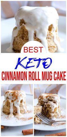 Keto Cinnamon Rolls, Cinnamon Recipes, Almond Recipes, Keto Recipes, Keto Mug Bread, Keto Mug Cake, Low Carb Mug Cakes, Low Carb Desserts, Quick Keto Breakfast